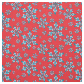 Snowflakes Pattern Fabric