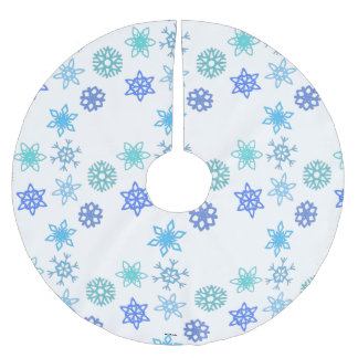 Snowflakes Pattern Holiday Christmas Tree Skirt