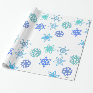 Snowflakes Pattern Holiday Wrapping Paper