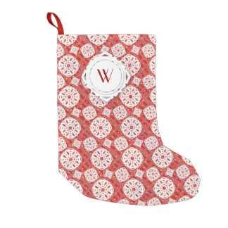 Snowflakes Pattern on Red | Stocking