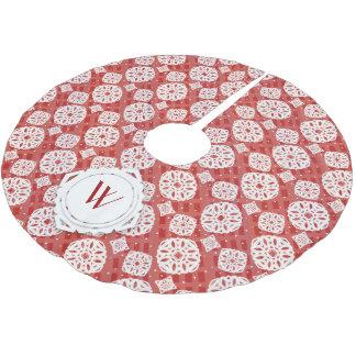 Snowflakes Pattern on Red | Tree Skirt