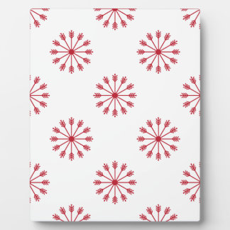 Snowflakes pattern plaque