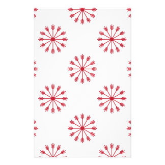 Snowflakes pattern stationery design
