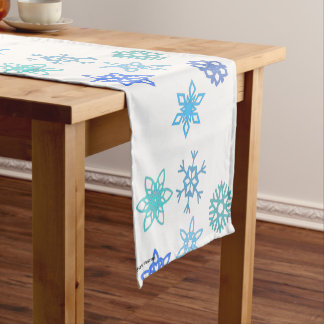 Snowflakes Pattern Winter Themed Table Runner