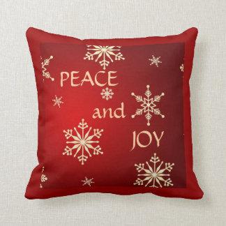 """Snowflakes """"Peace & Joy"""" - Christmas Pillow"""