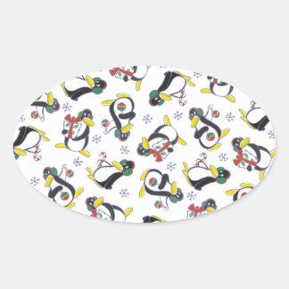 Snowflakes & Penguins Sticker