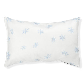 Snowflakes Pet Bed