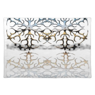 snowflakes placemat