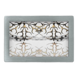 snowflakes rectangular belt buckles