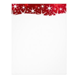 Snowflakes Red Merry Christmas - Stationery Personalized Letterhead