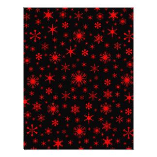 Snowflakes – Red on Black Letterhead Design
