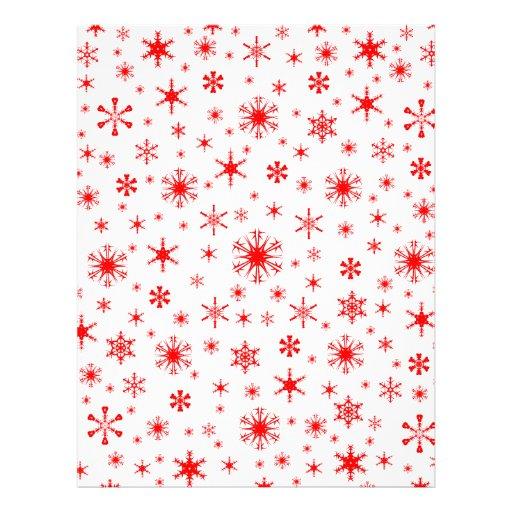 Snowflakes – Red on White Customized Letterhead