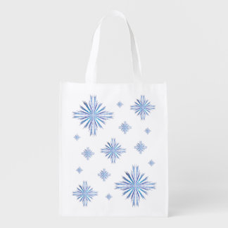 Snowflakes Reusable Grocery Bag