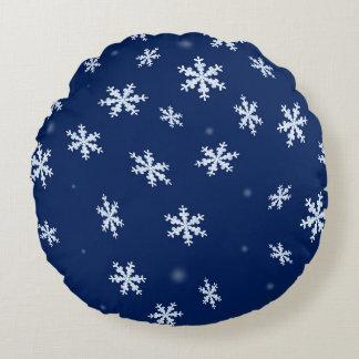 Snowflakes Round Pillow
