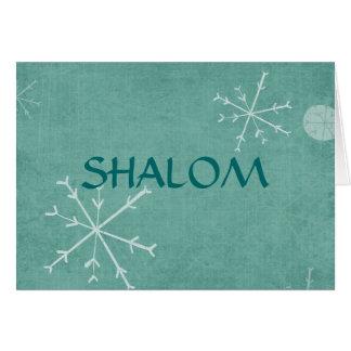 Snowflakes Shalom Card