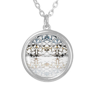 snowflakes silver plated necklace