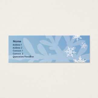 Snowflakes - Skinny Mini Business Card