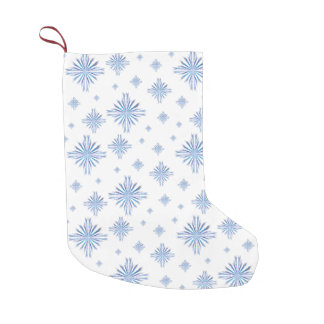 Snowflakes Small Christmas Stocking
