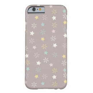 Snowflakes starts pattern - Christmas gifts Barely There iPhone 6 Case