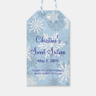Snowflakes Sweet 16 Winter Favor | Gift Tags