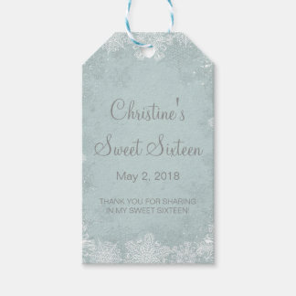 Snowflakes Sweet 16 Winter Favor | Gift Tags Pack Of Gift Tags