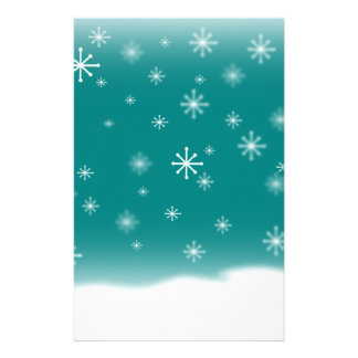 SNOWFLAKES TEAL STATIONERY DESIGN