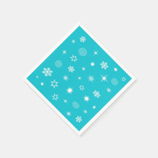 Snowflakes theme disposable napkin
