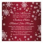 Snowflakes,  tree, lights Wedding Invitation