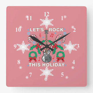 Snowflakes Ugly Sweater Lets Rock This Holiday Wallclock