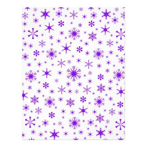 Snowflakes – Violet on White Letterhead Design