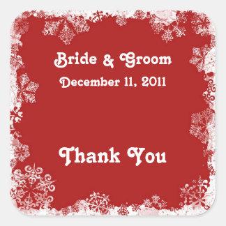 Snowflakes Wedding Stickers