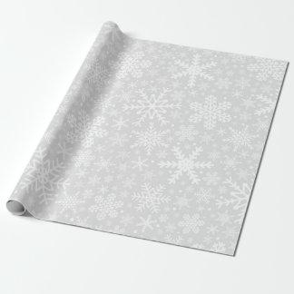 Snowflakes | White & Gray Wrapping Paper