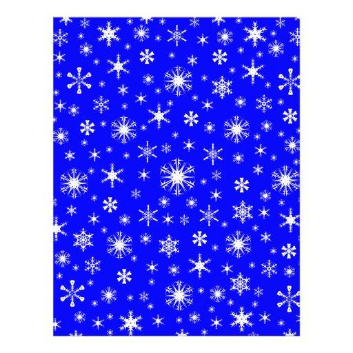 Snowflakes – White on Blue Letterhead