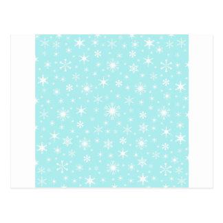 Snowflakes – White on Pale Blue Postcards