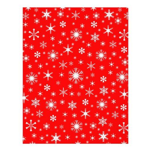 Snowflakes – White on Red Custom Letterhead