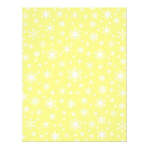 Snowflakes – White on Yellow Customized Letterhead