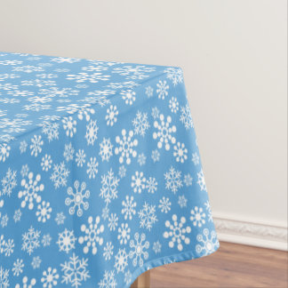 "Snowflakes winter Cotton Tablecloth, 52""x70"" Tablecloth"