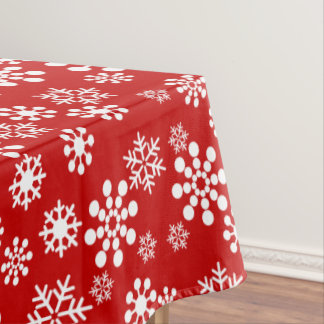 "Snowflakes winter Tablecloth, 52""x70"" Tablecloth"