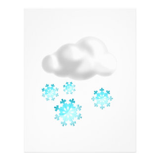Snowflakes with Cloud Letterhead Design