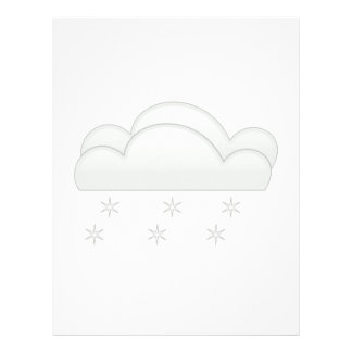 Snowflakes with Clouds Customized Letterhead