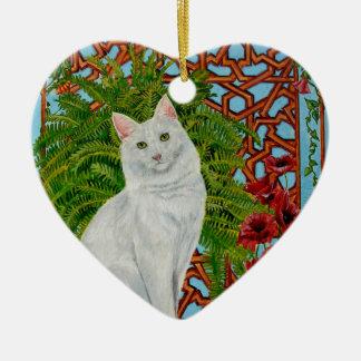 Snowi's Garden Ceramic Heart Ornament