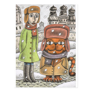 'Snowing Again' Postcard