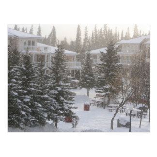 Snowing at Fairmont Hot Springs Postcard