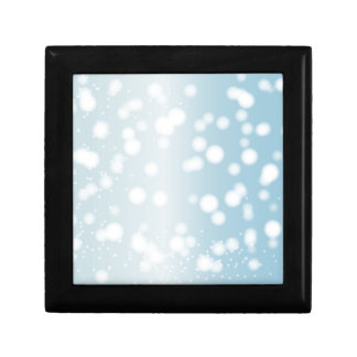 Snowing Banner Background Gift Box