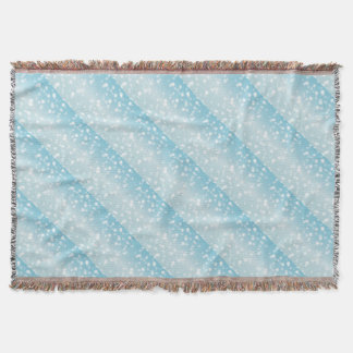 Snowing Banner Background Throw Blanket