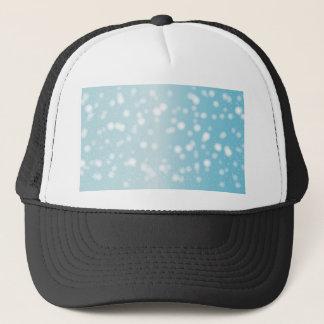 Snowing Banner Background Trucker Hat