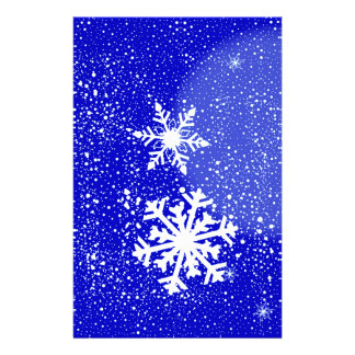 Snowing Custom Stationery