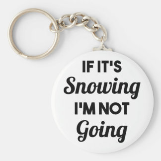 Snowing I'm Not Going Basic Round Button Keychain