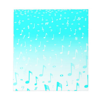 Snowing Music Notepads