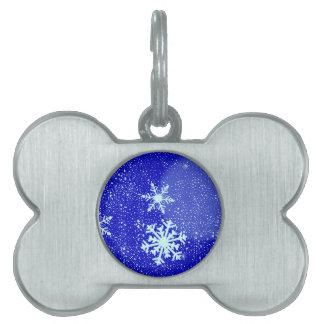 Snowing Pet ID Tags